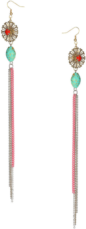 Flower Bead Tassel Drop
