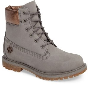 Women's Timberland 6 Inch Premium Metallic Waterproof Boot $169.95 thestylecure.com