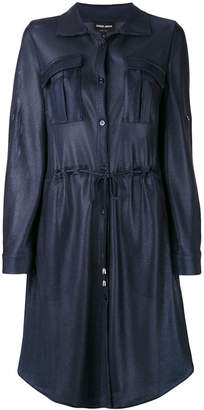 Giorgio Armani drawstring shirt dress