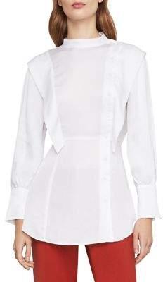 BCBGMAXAZRIA Asymmetrical Button-Front Shirt