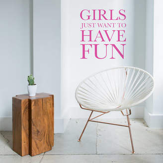 leonora hammond New Girls Just Want To Have Fun Wall Sticker