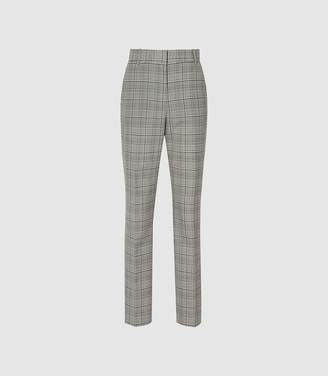Reiss Alenna - Slim Fit Tailored Trousers in Black/white