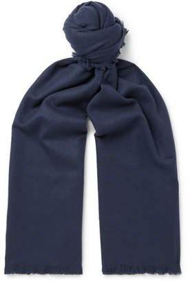 Mr P. Fringed Wool And Cashmere-Blend Scarf