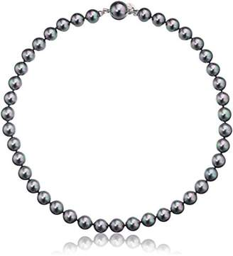 Majorica 10mm gray round pearl strand necklace