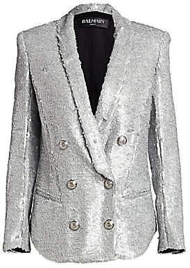 Balmain Women's Oversize Sequin Blazer