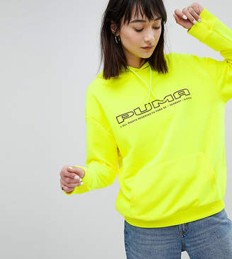 Puma Exclusive To ASOS Sweatshirt In Neon Yellow With Logo