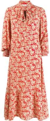 Sandro Paris paisley print midi dress