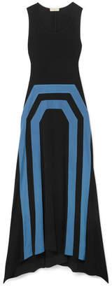 Tory Burch Frankie Asymmetric Jersey Maxi Dress - Black