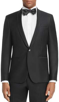 HUGO Arins Shawl Slim Fit Tuxedo Jacket $545 thestylecure.com