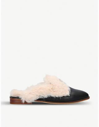Kurt Geiger Mason fluffy leather loafers