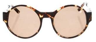 Proenza Schouler Tortoiseshell Round Sunglasses