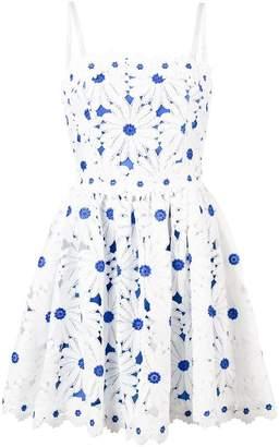 Alice + Olivia Alice+Olivia flower appliqué sun dress