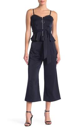 L'Atiste Pinstripe Top & Pants 2-Piece Set