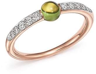 Pomellato M'Ama Non M'Ama Ring with Peridot and Diamonds in 18K Rose Gold