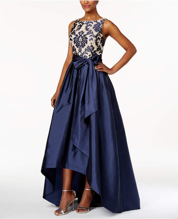 Adrianna PapellAdrianna Papell Embroidered-Lace Tafetta Gown
