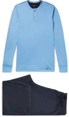 Hanro Floris Cotton-Jersey Pyjama Set