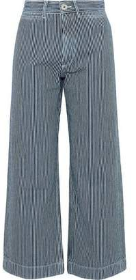 MiH Jeans Caron Striped Cotton-Twill Wide-Leg Pants