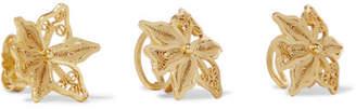 Mallarino Oriana Set Of Three Gold Vermeil Ear Cuffs And Earring - one size