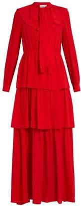 Sonia Rykiel Ruffled silk crepe de Chine dress