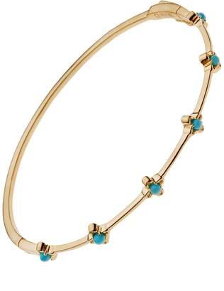 Lee Jones Collection Turquoise Bloom Bangle Bracelet - Yellow Gold