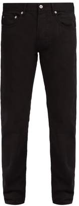 Stone Island Slim Leg Cotton Trousers - Mens - Black