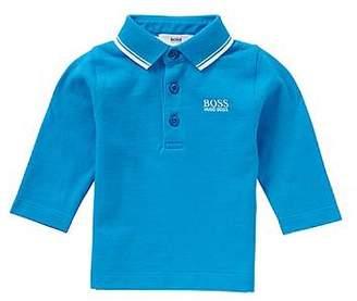 HUGO BOSS Newborns' long-sleeved polo shirt in cotton: 'J05448'