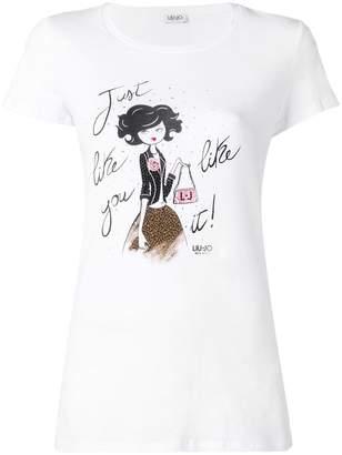 Liu Jo printed slogan T-shirt