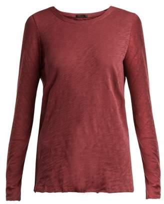 Atm - Slub Cotton Jersey T Shirt - Womens - Dark Red
