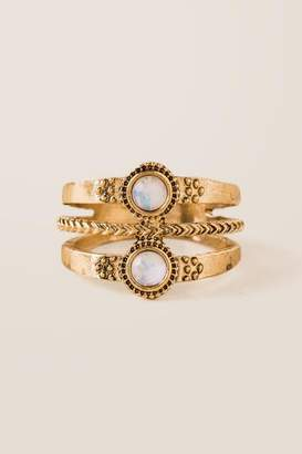 francesca's Heather Opal Antique Ring - Gold