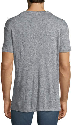 Karl Lagerfeld Paris Men's Striped Heathered-Knit Crewneck T-Shirt