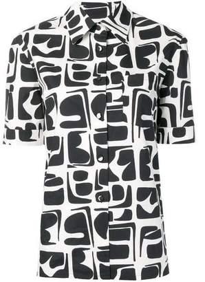 La DoubleJ La Double J Clerk Button Down Geo Print Shirt