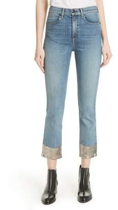 Rag & Bone High Waist Ankle Cigarette Jeans