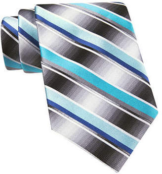 Van Heusen Brave Striped Silk Tie - Extra Long