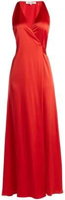 Diane von Furstenberg Satin wrap dress