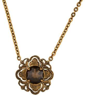 Stephen Dweck Smoky Quartz Flower Pendant Necklace
