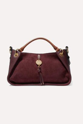 See by Chloe Luce Leather And Suede Tote - Burgundy