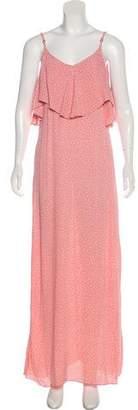 Flynn Skye Ruffle-Accented Maxi Dress