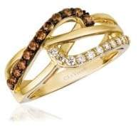 LeVian Le Vian Chocolatier Honey Gold Vanilla & Chocolate Multi-Band Ring