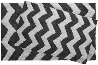 Jean Pierre Jeane Pierre Zigzag Reversible Cotton 2-pc. Bath Mat Set