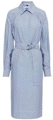 Maje Relino Striped Fil Coupe Cotton-poplin Shirt Dress