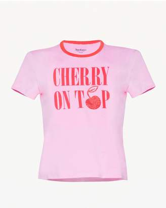 Juicy Couture Cherry on Top Ringer Tee