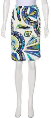 Emilio Pucci Printed A-Line Knee-Length Skirt