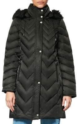 Andrew Marc Roxbury Down Faux Fur Hooded Coat