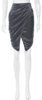 Balenciaga High-Low Knee-Length Skirt