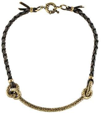 Giles & Brother Leather Rope Necklace