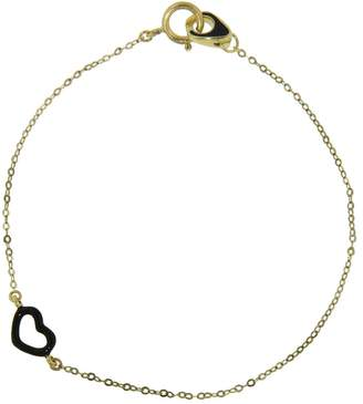 Jordan Askill Black Enamel Heart Bracelet