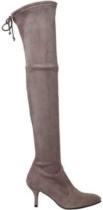 Stuart Weitzman 65mm Tiemodel Stretch Suede Boots