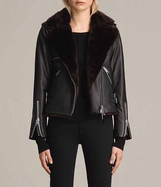 AllSaints Higgens Lux Leather Biker Jacket