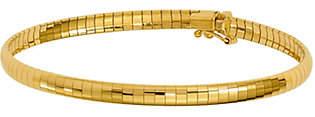 """QVC 14K Gold 4mm Domed 7"""" Omega Bracelet, 9.3g"""