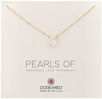 Dogeared Small Keshi Pearl Chain Necklace